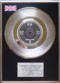 "U2 - 7"" Platinum Disc - Fire"